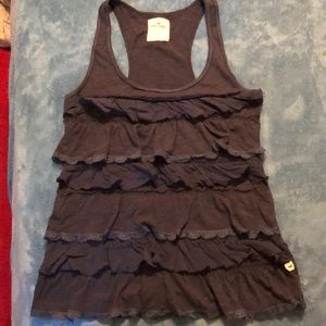 Hollister Ruffle tank top